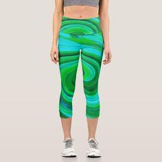 Yoga Mom, Yoga Wear, Capri Leggings, Look Cool, Custom Made, Things That Bounce, Boho Fashion, Cool Designs, Turquoise