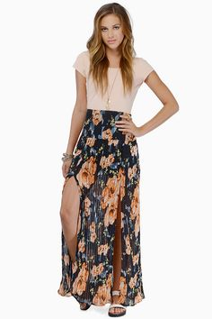Sunburst Maxi Skirt