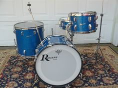 Rogers Cleveland Holiday Set — Not So Modern Drummer Rogers Drums, Modern Drummer, Vintage Drums, John Bonham, Drum Kits, Drummers, Percussion, Music Stuff, The Beatles