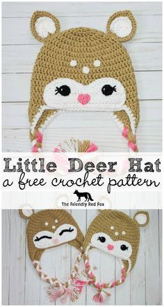 Free Crochet Little Deer Hat Pattern