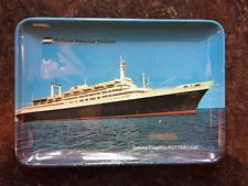 Vintage Holland America Cruises Deluxe Flagship SS Rotterdam Ashtray - Italy