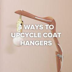 4 Ideas con perchas para la ropa