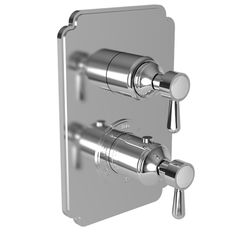 """Astaire  - 1/2"""" Square Thermostatic Trim Plate with Handle - 3-1663TS -    Newport Brass"""