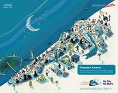 Dubai Metro map for Ramadan - Josh Cochran