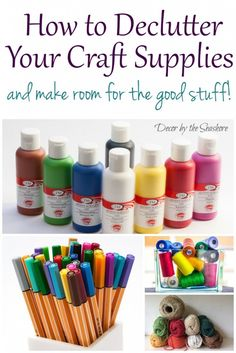 'How to Declutter Your Craft Supplies and Make Room for the Good Stuff...!' (via Decor by the Seashore)