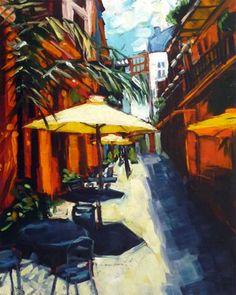 """French Quarter, Exchange Place"" - Original Fine Art for Sale - © Amy Stewart"