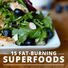 15 Fat-Burning Superfoods you need for your menu!  #superfoods #menuplanning