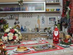 O estúdio Arte & Cozinha em clima de festa natalina. Decoração: Heda Seffrin Fotografia: Simone Seffrin