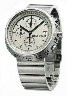 Issey Miyake - SILAZ002 - Montre Mixte - Quartz Chronographe - Bracelet Acier Inoxydable Argent: Amazon.fr: Montres