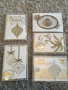 Stamped Christmas Cards, Homemade Christmas Cards, Stampin Up Christmas, Christmas Cards To Make, Xmas Cards, Handmade Christmas, Holiday Cards, Christmas Craft Show, Christmas Picks