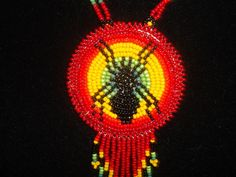 spider necklace, native american, by deancouchie on Etsy