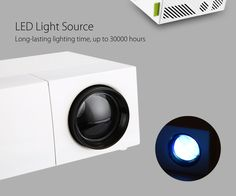 Features:- Stylish exterior in white makes it more attractive- Ventilation design, dissipates the heat produced after a long time working quickly, largely impro Best Portable Projector, Lcd Projector, Home Theater Setup, Cinema Theater, Traditional Lamps, Home Theater Projectors, Home Cinemas, Entertainment System, Usb