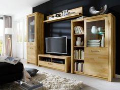 Wunderbar Dieses Wohnraumprogramm In Kernbuche Massiv Geölt Bietet Ausreichend  Stauraum Und Setzt Den Fernseher Ordentlich In Szene