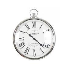 Stylish Pocket Watch Silver Wall Clock 42cm Kensington Station, London