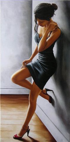 Annick Bouvattier | French fashion painter - Perfect...  Sleek, simple, follows the bodies curves...