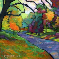 "KMSchmidt Landscape Paintings ""Shady Road"" in Salem Mass."
