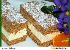 Medové řezy recept - TopRecepty.cz Krispie Treats, Rice Krispies, Vanilla Cake, Tiramisu, Ethnic Recipes, Food, Bakken, Essen, Meals