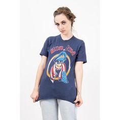 50528188d Vintage Bon Jovi T shirt / 1980s Band T / Paper thin 2 sided rock shirt