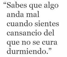 #cansancio