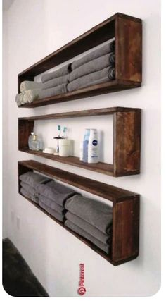 47 ideas of shelves for the home that you can make yourself The shelves right . - home accessories - 47 ideas of shelves for the house that you can make yourself The shelves right - deko ideen Diy Storage, Diy Organization, Bathroom Storage, Bathroom Interior, Small Bathroom, Bathroom Ideas, Budget Bathroom, Bathroom Shelves, Bathroom Vanities