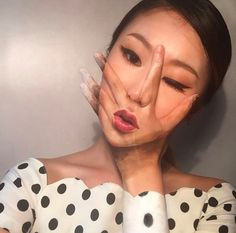 Yoon uses her incredible talent to make optical illusions ON HER FACE. | This College Student's Insane Optical Illusions Will Blow Your Mind