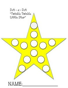 Twinkle Twinkle Little Star Dot a Dot freebie Fun Activities For Preschoolers, Nursery Activities, Motor Skills Activities, Toddler Learning Activities, Infant Activities, Nursery Rymes, Preschool Shapes, Dots Free, Xmas