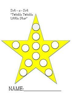Have students work on their Fine Motor Skills using Bingo Daubers and following this Twinkle Twinkle Little Star worksheet.