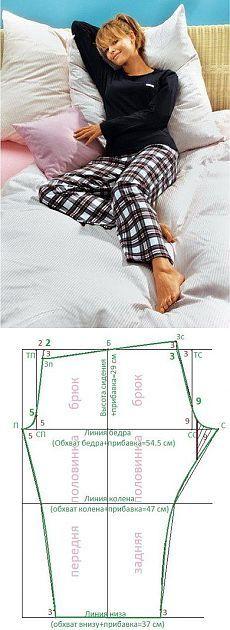 Basic pjs pants pattern