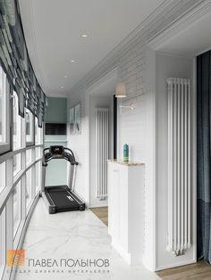 Фото: Интерьер домашнего спортзала - Квартира в стиле американской неоклассики, ЖК «Академ-Парк», 107 кв.м.