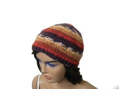 Knitting unisex beanie beret hat in brown by KnitterPrincess, $21.00