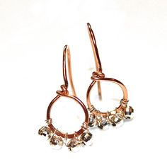 Rose Gold Earrings  Rose Gold Jewelry  Gold Loop by FizzCandy