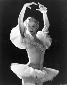 Audrey Hepburn as a ballerina in The Secret People directed by Thorold Dickinson, 1952