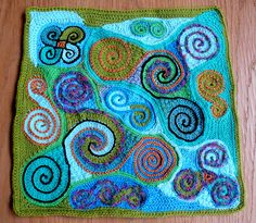 Anke's Freeform Pillowcover 2 Front Finished by hykevandermeer, via Flickr