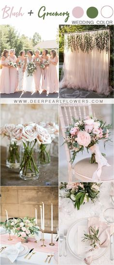 28 Blush Pink and Green Wedding Color Ideas - Wedding Colors . 28 Blush Pink and Green Wedding Color Ideas – Wedding Colors Spring Wedding, Wedding Day, Summer Weddings, Summer Wedding Themes, Color Themes For Wedding, Camp Wedding, Space Wedding, Forest Wedding, Party Wedding
