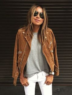 Wanted: the perfect casual outfit and suede jacket Sincerley Jules Mode Outfits, Fall Outfits, Casual Outfits, Look Fashion, Womens Fashion, Fashion Trends, Fashion Boots, Fall Fashion, Outfit Trends