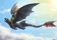 HTTYD: Hiccup and Toothless by Rina-Kras.deviantart.com on @deviantART
