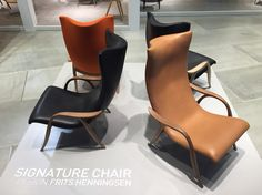 Relaunch of the famous Frits Henningsen 50's Signature Chair by Carl Hansen & Søn.