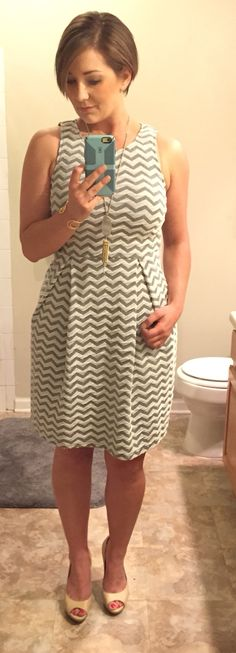 I'm in love with my new 41Hawthorn Jace Chevron Print Dress! My Stitch Fix stylist, Chanelle, nailed this one!  https://www.stitchfix.com/referral/4670030