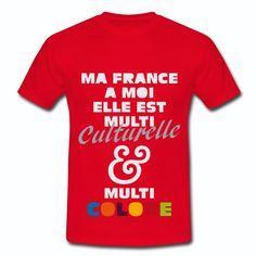 Tee Shirt Rouge France multi culturelle colorée