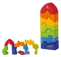 Interesting concept of a block tower. Wooden Block Puzzle, Wooden Blocks, Toddler Toys, Kids Toys, Best Toddler Gifts, Felt Toys, Wood Toys, Toy Storage, Beautiful Children