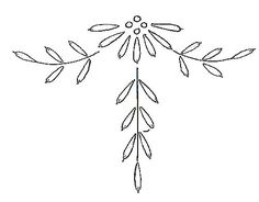 Hand Embroidery Projects, Machine Embroidery Patterns, Hand Embroidery Designs, Beaded Embroidery, Doodle Frames, Ribbon Skirts, Wreath Drawing, Christmas Swags, Pattern Drawing