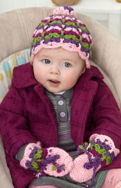 Free Crochet cute scallop hat Pattern.