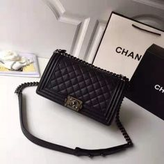High quality replica Chanel Boy Bag Caviar With Black - Boy bag - Chanel Bags Luxury Bags, Luxury Handbags, Fashion Handbags, Fashion Bags, Fashion Purses, Cute Handbags, Cheap Handbags, Purses And Handbags, Prada Purses