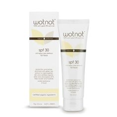 Wotnot Vegan Anti-Aging Facial Sunscreen & Primer 30 SPF