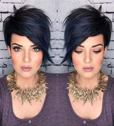 Pixie Hairstyles 11183 23 Short Hair Styles and Colors Are The Most Popular in Spring 2020 - Lily Fashion Style Short Straight Hair, Short Hair Cuts, Short Hair Styles, Funky Short Hair, Short Hair Trends, Thick Hair, Easy Everyday Hairstyles, Straight Hairstyles, Short Asymmetrical Hairstyles