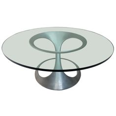 Rare free form table by sculptor Knut Hesterberg. Published