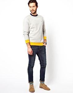 Farah Vintage  Farah Vintage Sweatshirt with Contrast Hem at ASOS