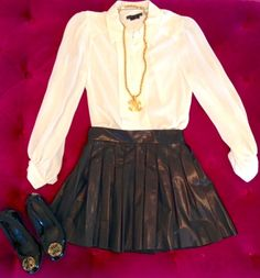 From Monkee's of Charlotte with a pleated leather circle skirt
