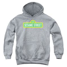 """Checkout our #LicensedGear products FREE SHIPPING + 10% OFF Coupon Code """"Official"""" Sesame Street / Logo-youth Pull-over Hoodie-athletic Heather-sm - Sesame Street / Logo-youth Pull-over Hoodie-athletic Heather-sm - Price: $49.99. Buy now at https://officiallylicensedgear.com/sesame-street-logo-youth-pull-over-hoodie-athletic-heather-sm"""