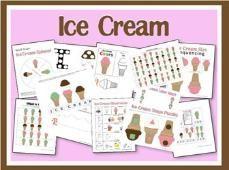 Ice Cream Printables - toddler / preschool